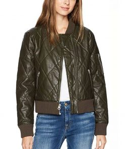 The 100 Season 6 Raven Reyes Quilted Bomber Jacket