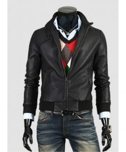Mens Slim Fit Style Leather Jacket