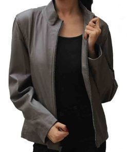 New Cityscape Grey Real Leather Jacket