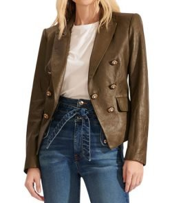 Stylish Cooke Dicky Real Leather Blazer
