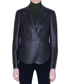 Snap-Front Coat And Black Leather Jacket