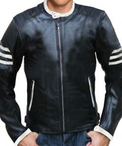 New Ghost Rider Style Black Real Leather Jacket