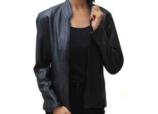 Classic Haley Ray Black Real Leather Jacket