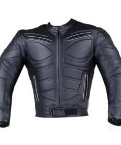 Riding Biker Blade Armor Motorcycle Leather Jacket In Black