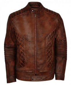 New Iconic Brown Distressed Vintage Leather Jacket