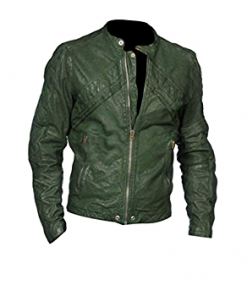 Austin And Ally Austin Moon Green Leather Jacket