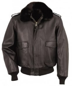 The Thing Kurt Russell R.J. Macready Bomber Brown Leather Jacket
