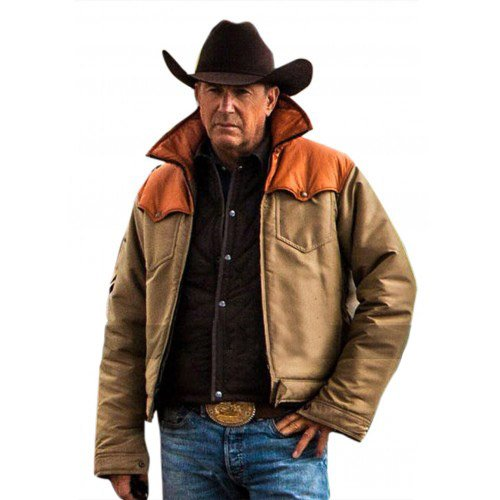 Yellowstone Kevin Costner John Dutton Real Leather Jacket