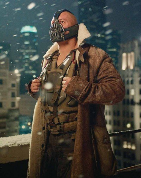 The Dark Knight Rises Real Leather Bane Distressed Leather Coat