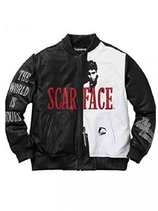 Scarface The World Is Yours Tony Montana Leather Jacket