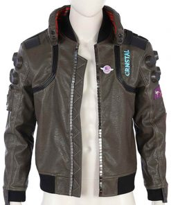 New Cyberpunk 2077 Bomber Real Leather Jacket