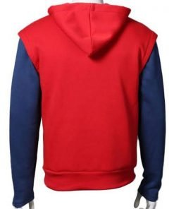 Tom Holland Spiderman Homecoming Red Hoodie with Blue Sleeves