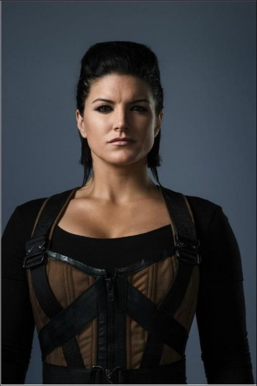 Angel Gina Carano Deadpool Brown Leather Vest