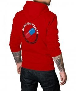 Akira Pill Good for Health Bad for Education Red Hoodie