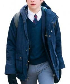 The Undoing TV Series Henry Sachs Blue Cotton Hooded Jacket