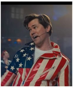 American Flag Barry Glickman Leather Jacket