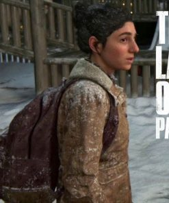 Dina The Last of Us Part II Brown Shearling Jacket