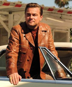 Leonardo DiCaprio Once Upon A Time Brown Leather Jacket