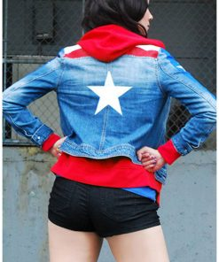 Young Avengers Miss American Flag Jacket