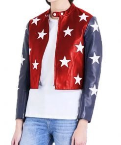 Womens Independence Day Cropped Jacket
