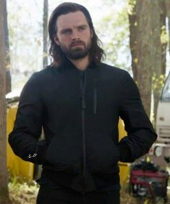 Falcon and Winter Soldier Bucky Barnes Bomber Jacket