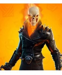 Game Fortnite Ghost Rider Cup Black Leather Jacket